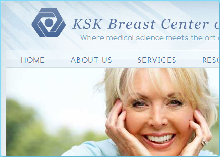 Breast Center of Irvine Layout Design & User Interface Design